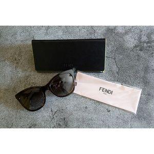 Fendi Havana Cube FF Sunglasses 55MM